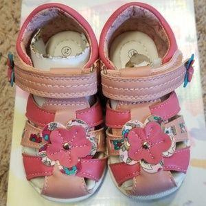 Toddler Beeko Pink Flower Sandals US Size 5.5
